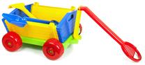 Wózek z rączką + łopatka i grabki