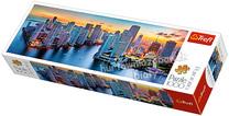 Puzzle 1000el. panorama Miami o zmroku