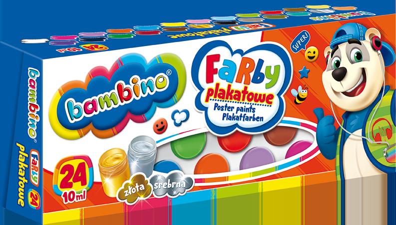Farby Plakatowe 24 Kol Bambino Hurtowniazabawek Pl